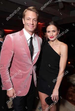 """Joel Kinnaman and Shantel VanSanten at the """"For All Mankind"""" Apple TV+ World Premiere Celebration at the Sunset Tower Hotel"""