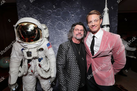 """Ronald D. Moore, Showrunner/Creator/Executive Producer, and Joel Kinnaman at the """"For All Mankind"""" Apple TV+ World Premiere Celebration at the Sunset Tower Hotel"""