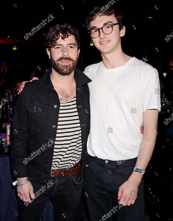 Stock Photo of Yannis Philippakis and Isaac Hempstead Wright
