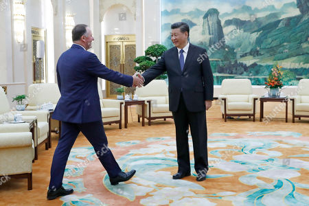 Editorial photo of New Zealand former prime minister John Key meets Chinese President Xi Jinping in Beijing, China - 16 Oct 2019