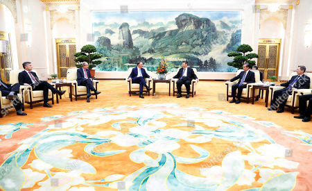 Editorial image of New Zealand former prime minister John Key meets Chinese President Xi Jinping in Beijing, China - 16 Oct 2019