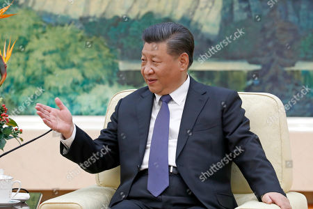 Editorial picture of New Zealand former prime minister John Key meets Chinese President Xi Jinping in Beijing, China - 16 Oct 2019