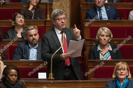 Jean-Luc Melenchon during the weekly session of questions to the government