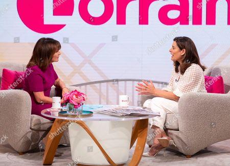 Lorraine Kelly and Miriam Gonzalez Durantez