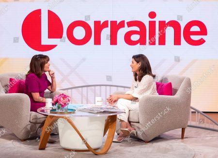 Stock Photo of Lorraine Kelly and Miriam Gonzalez Durantez