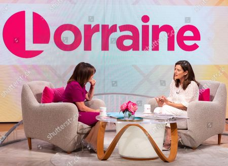 Stock Image of Lorraine Kelly and Miriam Gonzalez Durantez