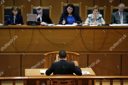 Editorial picture of Golden Dawn party trial, Athens, Greece - 16 Oct 2019