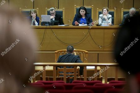 Editorial photo of Golden Dawn party trial, Athens, Greece - 16 Oct 2019