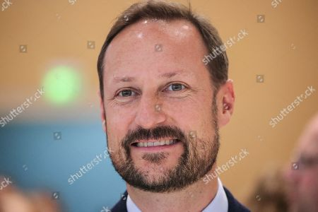 Norwegian Crown Prince Haakon visits the Norwegian pavilion at the Frankfurt Book Fair 2019 in Frankfurt Main, Germany, 16 October 2019. The 71st edition of the international Frankfurt Book Fair, described as the world's most important fair for the print and digital content business, runs from 16 to 20 October and gathers authors, writers and celebrities from all over the world.
