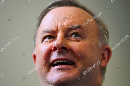 Australian Opposition Leader Anthony Albanese speaks to the media during a press conference at Parliament House in Canberra, Australian Capital Territory, Australia, 16 October 2019.