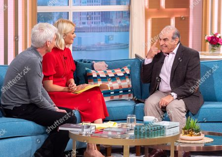 Phillip Schofield and Holly Willoughby with David Suchet