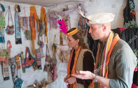 Prince William and Catherine Duchess of Cambridge visit a settlement of the Kalash people, to learn more about their culture and unique heritage in Chitral, Pakistan