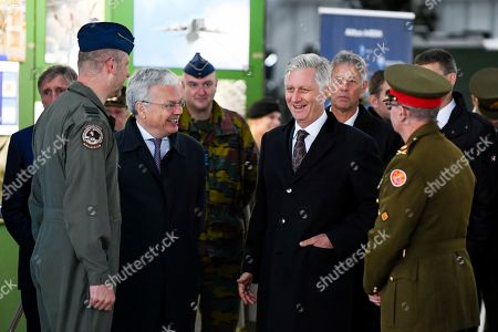 King Philippe, Didier Reynders at the Diekirch Military Center