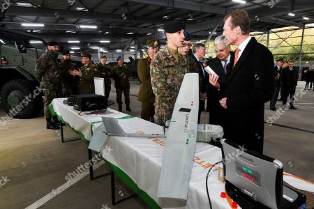 Grand Duke Henri of Luxembourg, Didier Reynders at the Diekirch Military Center