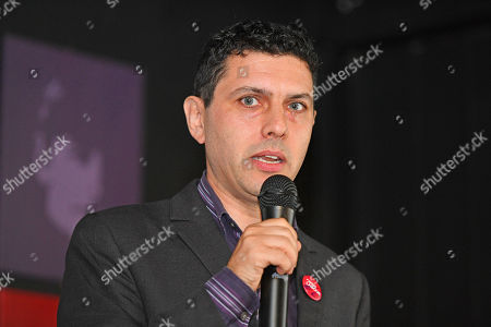 Stock Photo of Alex Sobel . Labour Party Conference Liverpool Merseyside.- Alex Sobel MP For Leeds North West Speaks At The The Jewish Labour Movement Rally  - 23/9/18.