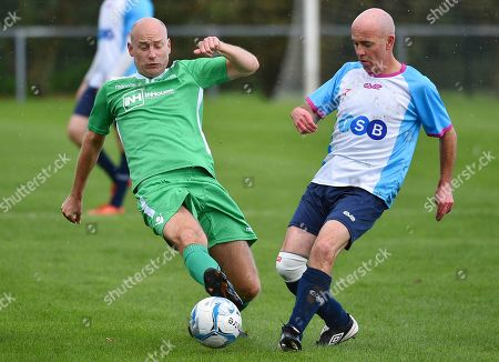 Labour Party Conference Liverpool Merseyside.- Stephen Kinnock MP(green) - Labour Party V Media Football Match At Walton Park Football Grounds Liverpool.  - 23/9/18.