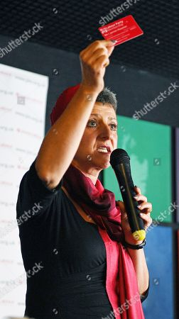 Editorial photo of Rabbi Laura Janner-klausner . Labour Party Conference Liverpool Merseyside.- Rabbi Laura Janner-klausner Speakers The The Jewish Labour Movement Rally.  - 23/9/18.