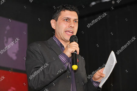 Editorial photo of Alex Sobel . Labour Party Conference Liverpool Merseyside.- Alex Sobel MP For Leeds North West Speaks At The The Jewish Labour Movement Rally  - 23/9/18.