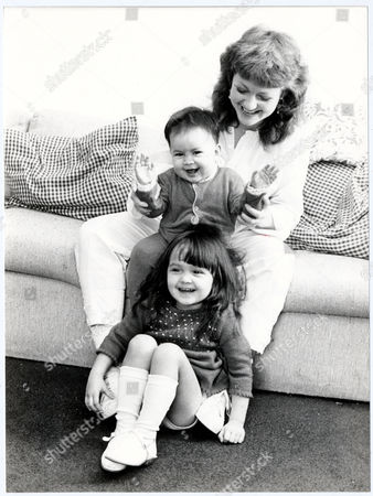 Editorial picture of Gina Rowe Wife Of Actor Art Malik With Their Two Children Jessica (nearly Three) And Keira (nearly 1) At Their Surrey Home.