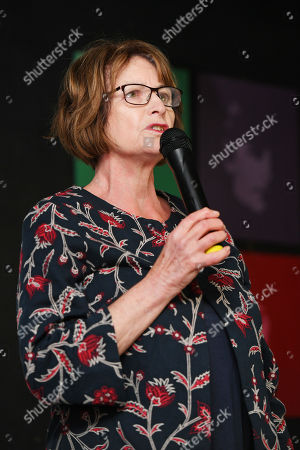 Dame Louise Ellman . Labour Party Conference Liverpool Merseyside.- Dame Louise Ellman Speakers At The The Jewish Labour Movement Rally.  - 23/9/18.