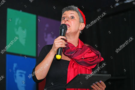 Stock Image of Rabbi Laura Janner-klausner . Labour Party Conference Liverpool Merseyside.- Rabbi Laura Janner-klausner Speakers The The Jewish Labour Movement Rally.  - 23/9/18.