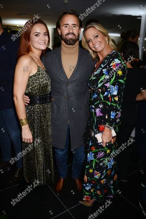 Amelia Baerlin, Jay Rutland and Jessica Binns attends the launch of Apothem exclusively at Harvey Nichols