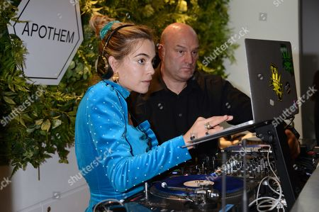 Stock Image of Chelsea Leyland attends the launch of Apothem exclusively at Harvey Nichols