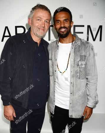 Tony North and Craig David attend the launch of Apothem exclusively at Harvey Nichols