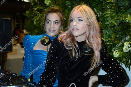 Chelsea Leyland and Mary Charteris attends the launch of Apothem exclusively at Harvey Nichols