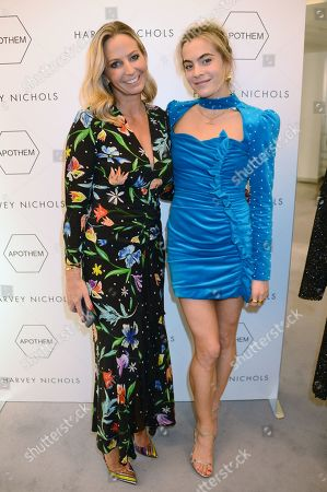 Jessica Binns and Chelsea Leyland attend the launch of Apothem exclusively at Harvey Nichols