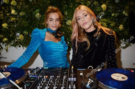 Stock Photo of Chelsea Leyland and Mary Charteris attends the launch of Apothem exclusively at Harvey Nichols
