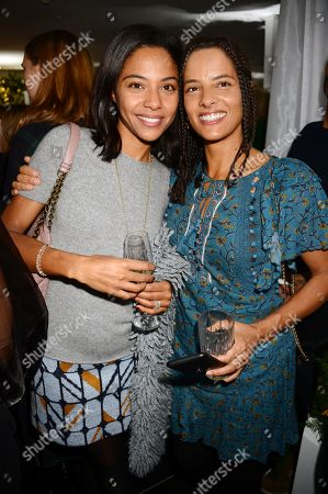 Lola Ross and guest attend the launch of Apothem exclusively at Harvey Nichols