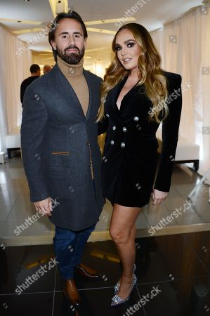 Jay Rutland and Tamara Ecclestone attends the launch of Apothem exclusively at Harvey Nichols