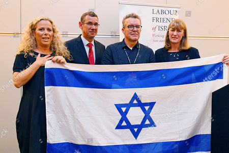 (l To R) Ayelet Nahmias-verbin Israeli Ambassador Mark Regev Deputy Labour Leader Mark Watson And Joan Ryan MP Speak At The Labour Friends Of Israel Reception. - Labour Party Conference At The Acc Liverpool And Exhibition Centre Liverpool Merseyside.-.