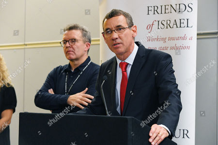(l To R) Israeli Ambassador Mark Regev With Deputy Labour Leader Mark Watson Speak At The Labour Friends Of Israel Reception. - Labour Party Conference At The Acc Liverpool And Exhibition Centre Liverpool Merseyside.-.