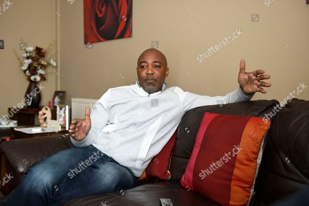 Darren Campbell . Gb Sprinter Darren Campbell Photographed At His Home In Newport After His Brain Injury.