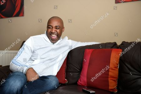 Stock Image of Darren Campbell . Gb Sprinter Darren Campbell Photographed At His Home In Newport After His Brain Injury.