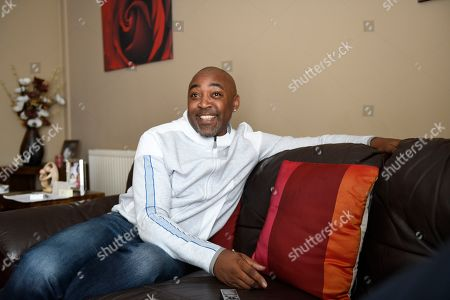 Stock Picture of Darren Campbell . Gb Sprinter Darren Campbell Photographed At His Home In Newport After His Brain Injury.