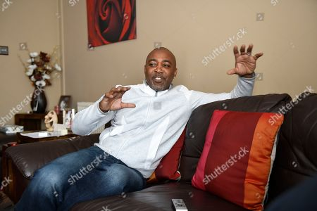 Stock Photo of Darren Campbell . Gb Sprinter Darren Campbell Photographed At His Home In Newport After His Brain Injury.