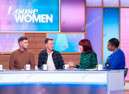 Kieron Richardson, Carl Hyland, Janet Street-Porter and Brenda Edwards