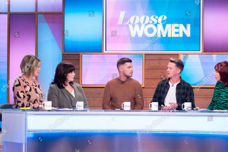 Stock Photo of Ruth Langsford, Coleen Nolan, Kieron Richardson, Carl Hyland, Janet Street-Porter