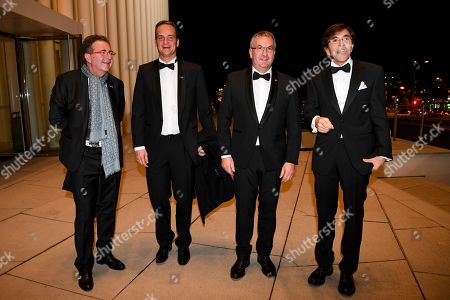 Stock Image of Rudi Vervoort, Oliver Paasch, Pierre-Yves Jeholet and Elio Di Rupo during a concert hosted by TTMM the King and the Queen in honour of HRH the Grand Duke followed by a reception.