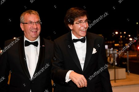 Pierre-Yves Jeholet and Elio Di Rupo during a concert hosted by TTMM the King and the Queen in honour of HRH the Grand Duke followed by a reception.