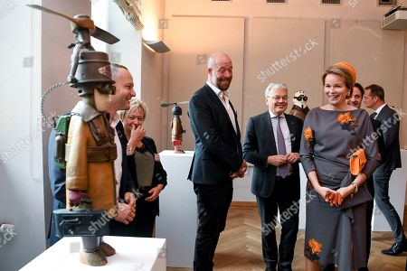 Stock Picture of Queen Mathilde and Didier Reynders visit the 'Space Symposium of Belgium and Luxembourg', a collaborative journey addressing future space challenges, before they visit a photography exhibition on sexual violence titled 'Stand Speak Rise Up!' organized by HRH the Grand Duchess.