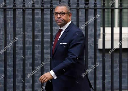 Stock Photo of Britain's Chairman of the Conservative Party James Cleverly arrives for a Cabinet meeting at 10 Downing Street in London, . The European Union's chief Brexit negotiator says talks between the EU and Britain on the country's departure from the bloc are continuing after running through the night but that obstacles remain