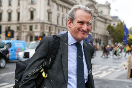 Stock Photo of Damian Hinds MP for East Hampshire and former Secretary of State for Education arrives at Houses of Parliament.