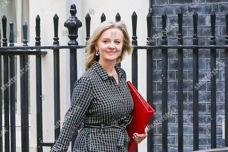 Secretary of State for International Trade Liz Truss arrives in Downing Street to attend the weekly cabinet meeting.