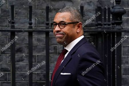 Conservative Party Chairman James Cleverly arrives for a cabinet meeting in Downing Street, Central London, Britain, 16 October 2019. The British government and European Union continue talks ahead of a EU summit scheduled for 17 and 18 October.