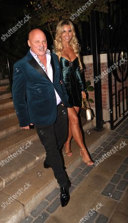 Aldo Zilli and Christine McGuinness Leaving the Best Heroes Awards at the Bloomsbury Hotel