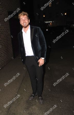Sam Thompson Leaving the Best Heroes Awards at the Bloomsbury Hotel